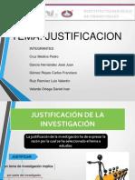 Justificacion TALLER DE INVESTIGACION