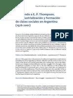 Esperando a E. P. Thompson. Desindustrialización en La Argentina (1976 y 2001) Juan Grigera