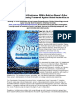Cyber Security World Conference 2014 to Build on Obama's Cyber Threat Information Sharing Framework Against Global Hacker Attacks