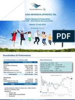 Garuda Indonesia Analyst Meeting Presentation 2014