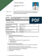 CV Talha Anwar
