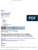 Pharmacokinetics and Efficacy of a Vaginally Administered Maraviroc Gel in r