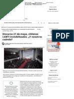 Discurso 21 de Mayo, Chilenxs LGBTI Invisibilizados