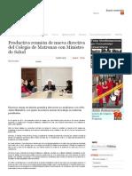 Productiva Reunión de Nueva Directiva Del Colegio de Matronas Con Ministro de Salud