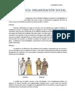 Legado Cultural - República - Organización Social