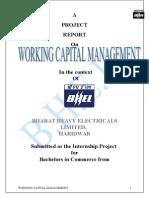 Working Capital Managemnt