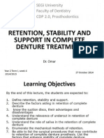 04 Retention, Stability and Support in Complete Denture Treatment_students