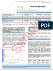 Chemicals-polyols SAMPLE From ICIS