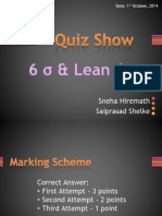 Six Sigma Quiz