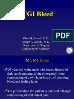 UGI Bleed - Duodenal Ulcer