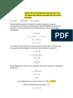 Ecuación de La Circunferencia-dados Tres Puntos