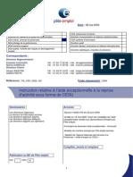 Pôle emploi - Gestion des aides à la reprise d'activité - PE_CSP_2009_163
