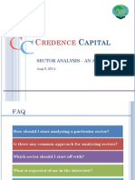 Credence Capital Sector Analysis 08-14