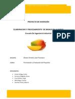 Elaboracion de Mango en Almibar Terminado