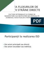 Analiza Fluxurilor de Investi-II Straine Directe