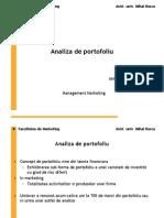 Analiza de Portofoliu