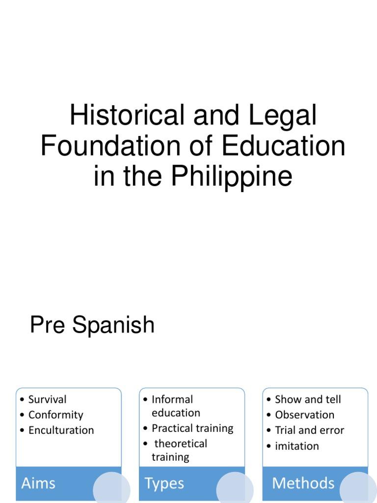 historical foundation of education