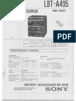 Sony LBT-A495 Esquema Elétrico