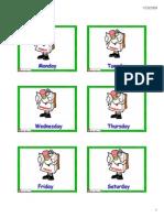 Days Activities Flashcards