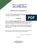 Certificado de Residencia 2
