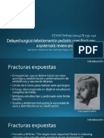 Delayed Surgical Debridement in Pediatric Open Fractures