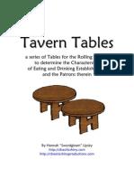 Tavern Tables