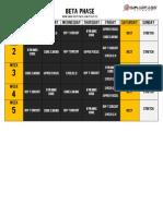 Focus T25 Beta Schedule  beta phaz