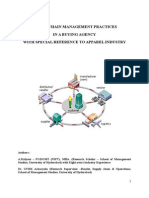 SUPPLY CHAIN MANAGEMENT IN  APPAREL BUYING AGENCY - F2F published.doc