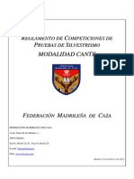 Reglamento Competición Silvestrismo Madrileña 2011