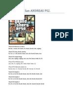 CHEAT GTA San ANDREAS PS2.docx