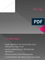 Marketing Planning Session 7.Pricing
