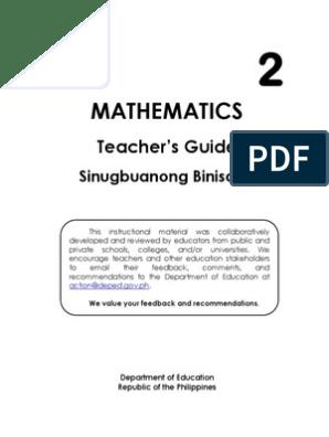 TG_MATH_GRADE2 pdf | Subtraction | Fraction (Mathematics)