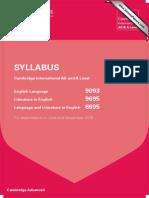 syllabus eng lit 2015 alevels