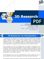 3D Market Research Company Profile