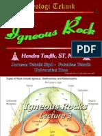 Lecture 03 Igneous Rocks