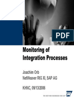 Monitoring of SAP Exchange Infrastructure Integration Processes - Webinar Powerpoint