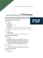 Jurusan Dan Program Studi Polinema