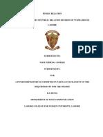 Internship Report of Wapda Public Relation Department