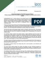 IPCC Press Release - Nov. 2, 2014