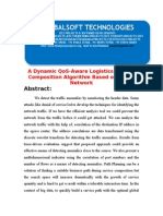 IEEE 2014 .NET PARALLEL DISTRIBUTION PROJECT A Dynamic QoS-Aware Logistics Service Composition Algorithm Based on Social