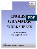 English grammar worksheets