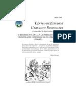 El Regimen Colonial y La Formacion de Identidades GUATEMALA