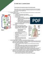 ANP 1105B Lymphatic Notes
