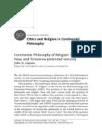 JSP_Continental Philosophy of Religion