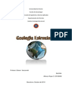 Trabajo de Geologia Estructural. Alfonzo Rojas. Ci 20126095