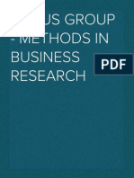 Focus Group - Methods in Business Research