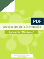 Mis Notas Arquitectura de la información
