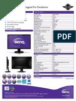 BenQ GW2255 Spec Sheet