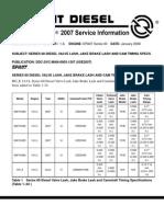 DDEC v Injectors Adjustment | Fuel Injection | Diesel Engine