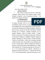 Resolución de Servini 31 octubre 2014